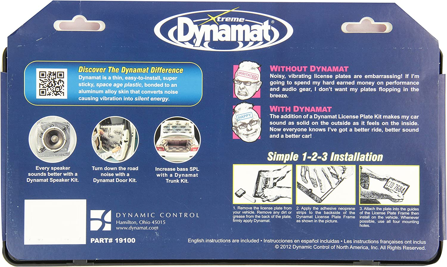 Dynamat 19100 License Plate Kit