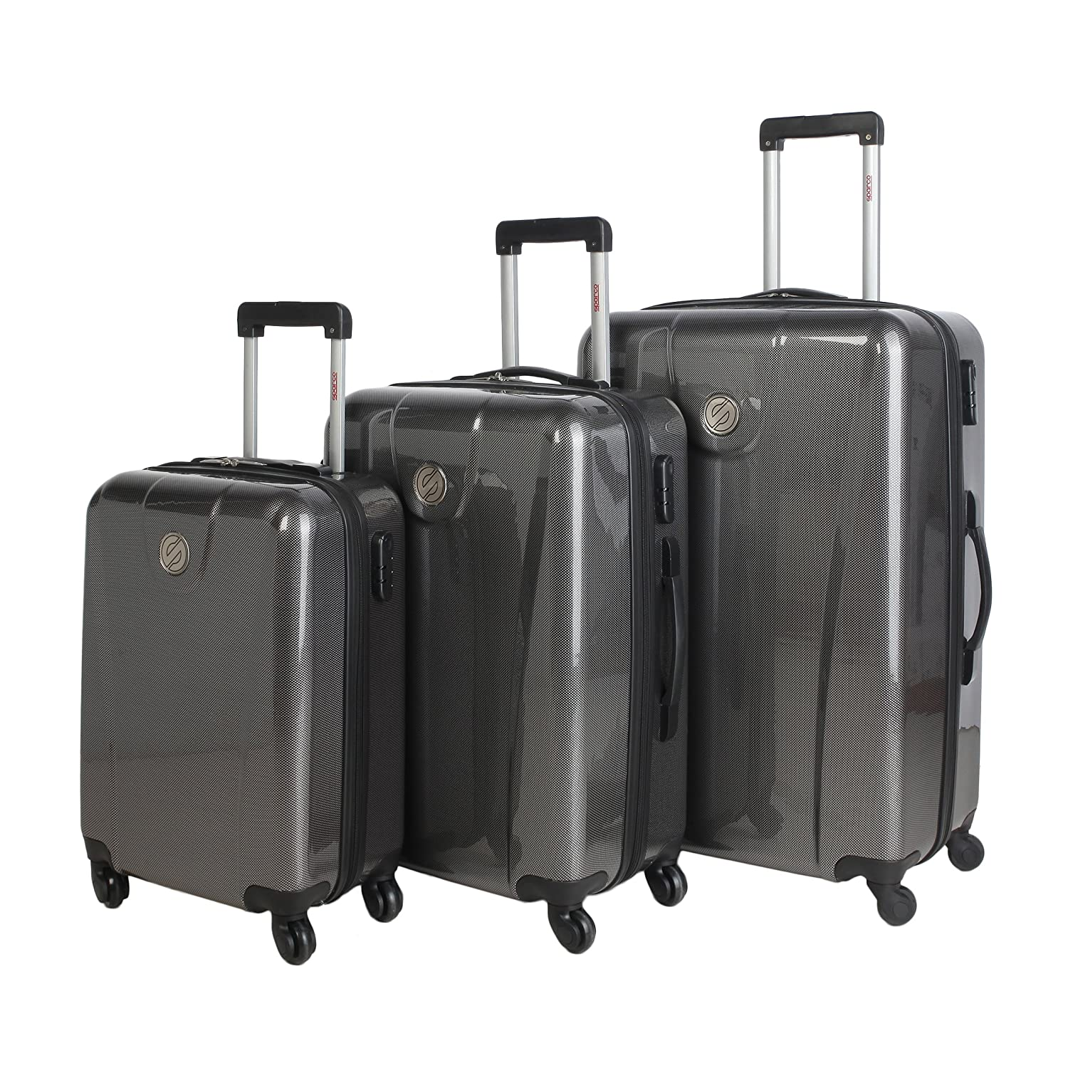 Amazon.com: Sparco Roller Trolley Suitcases (Set Of Three ...