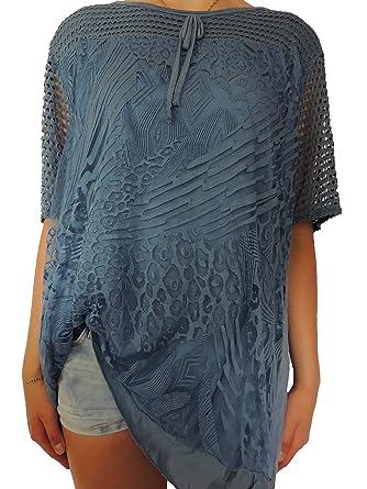Viele verschiedene Farben Damen Blusen Shirts Größe 46 48 50 52 54 (Blauton):  Amazon.de: Bekleidung