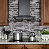 "FIREBIRD 30"" Black Finish Stainless Steel Wall"