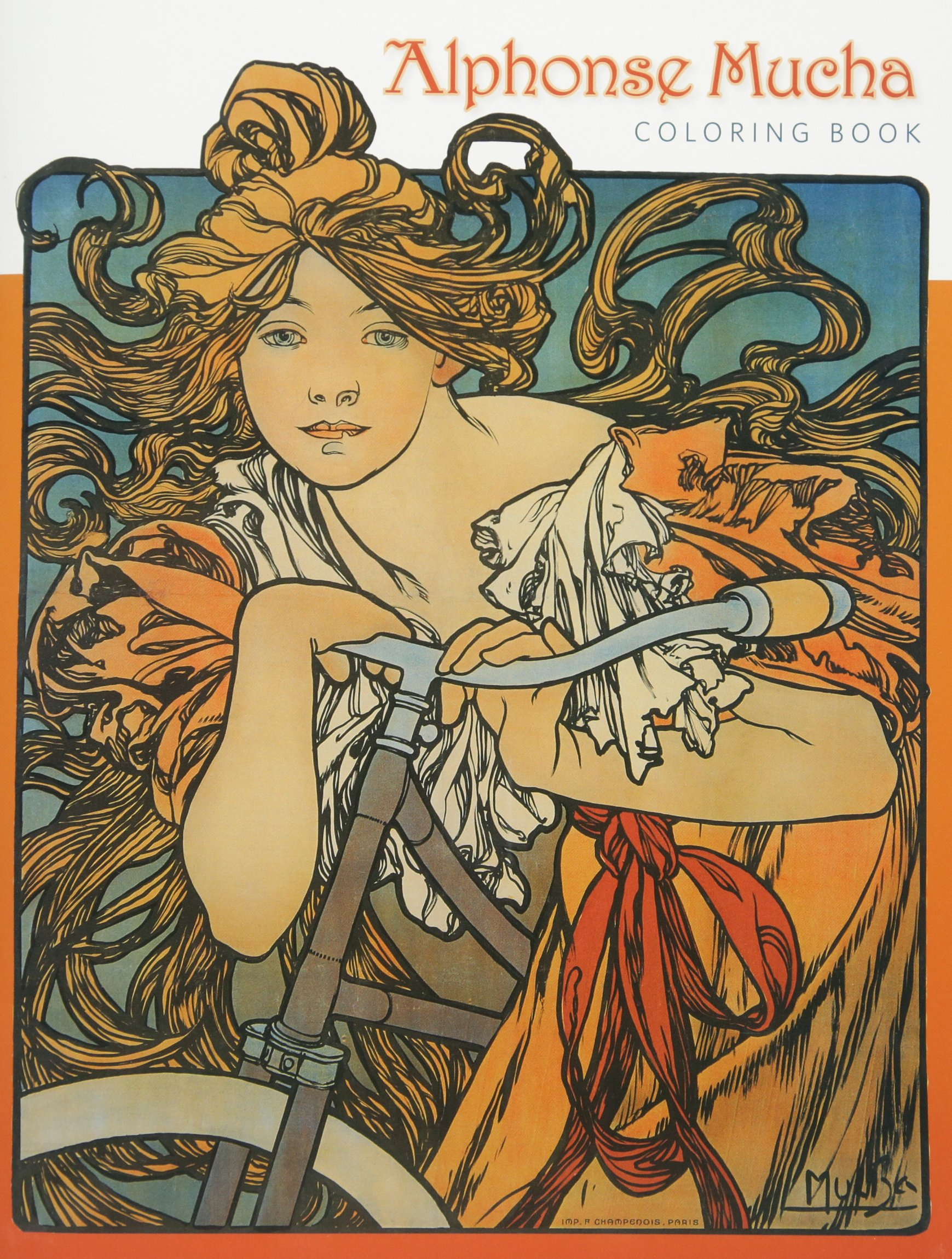 Alphonse Mucha Coloring Book: Pomegranate Communications Inc