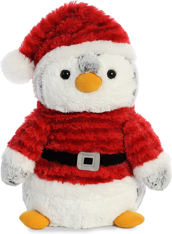 "Aurora - Christmas Items - 11.5"" Pompom Penguin Santa - Medium"