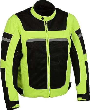 Milwaukee Leather Womens Nylon//Mesh Combo Moto Jacket with Armor Black//Pink 4X