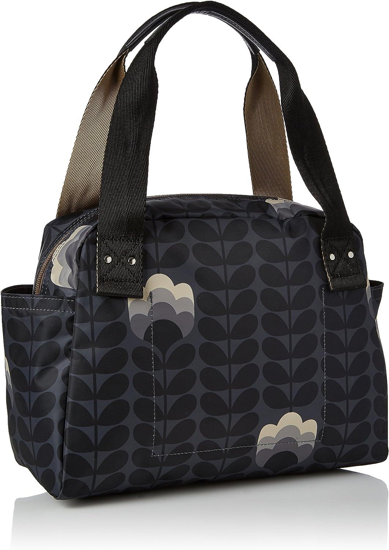 Orla Kiely womens 17AEBTS092 Buttercup Stem Printed Zip Handbag Multicolour (Dusk)