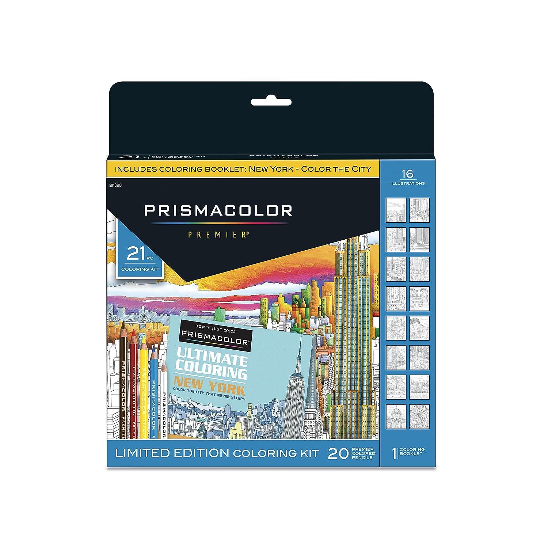 21 Lapices De Colores Con Libro Para Pintar Prismacolor Xmp