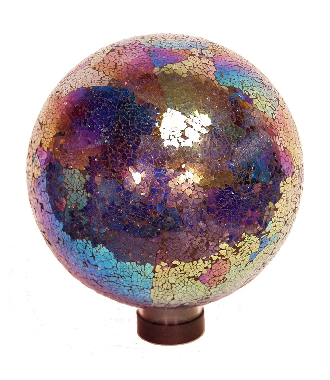 Echo Valley 8196 10-Inch Mosaic Glass Gazing Globe, Arco Iris