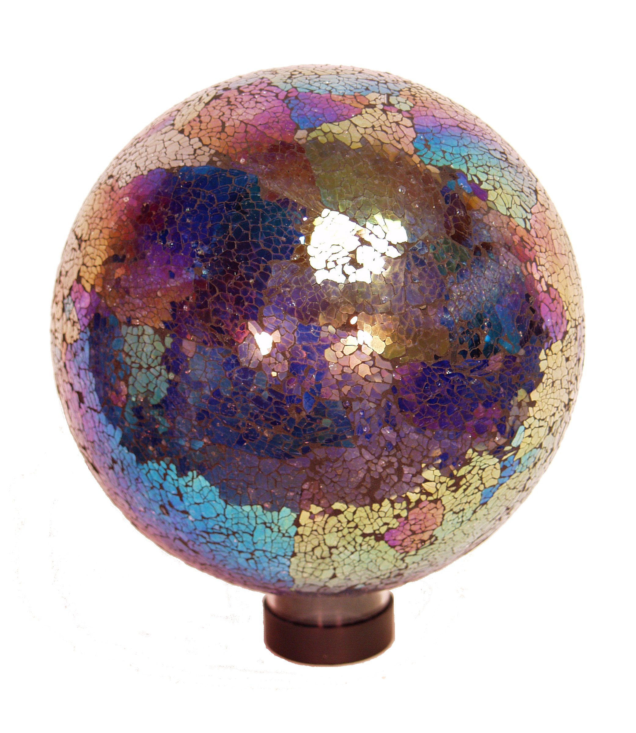 Echo Valley 8196 10-Inch Mosaic Glass Gazing Globe, Arco Iris