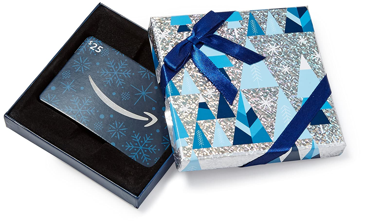 Amazon.com Gift Card in a Blue and Silver Gift Box VariableDenomination