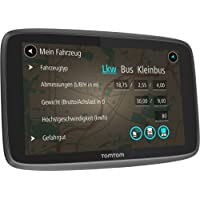 TomTom Go Professional 6250 LKW-Navigationsgerät (6 Zoll (15,24 cm), Updates via Wi-Fi, 50.000 POIs, Smartphone Benachrichtigungen, Lebenslang Karten (Europa), Traffic und Radarkameras) schwarz