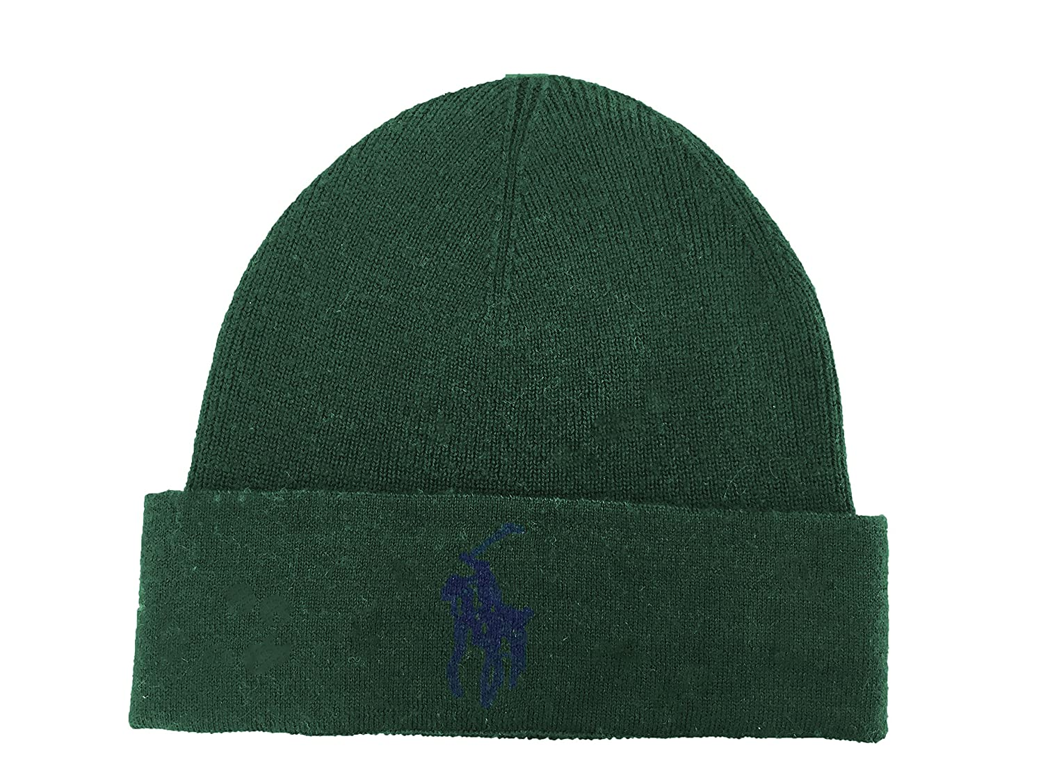 5abf170a931 Ralph Lauren Mens Polo Big Pony Skull Cap Beanie (Green) at Amazon Men s  Clothing store