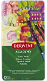 Derwent 2301937 Academy Colouring Pencils,  Tin Box, High Quality,Multicolor ,Set of 12