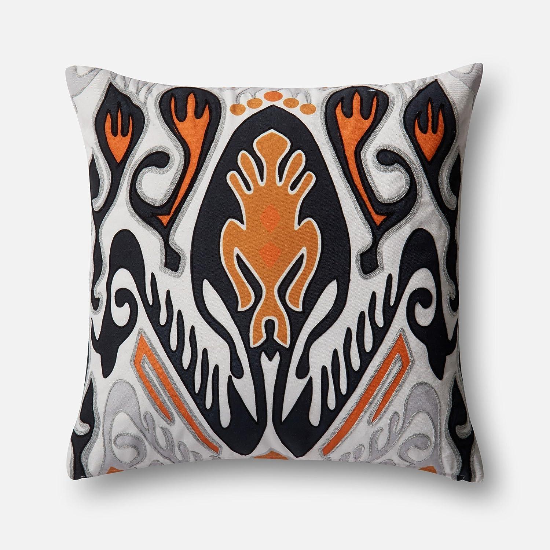 Loloi DSET Orange/Multi Decorative Accent Pillow, 22' x 22' Cover W/Down