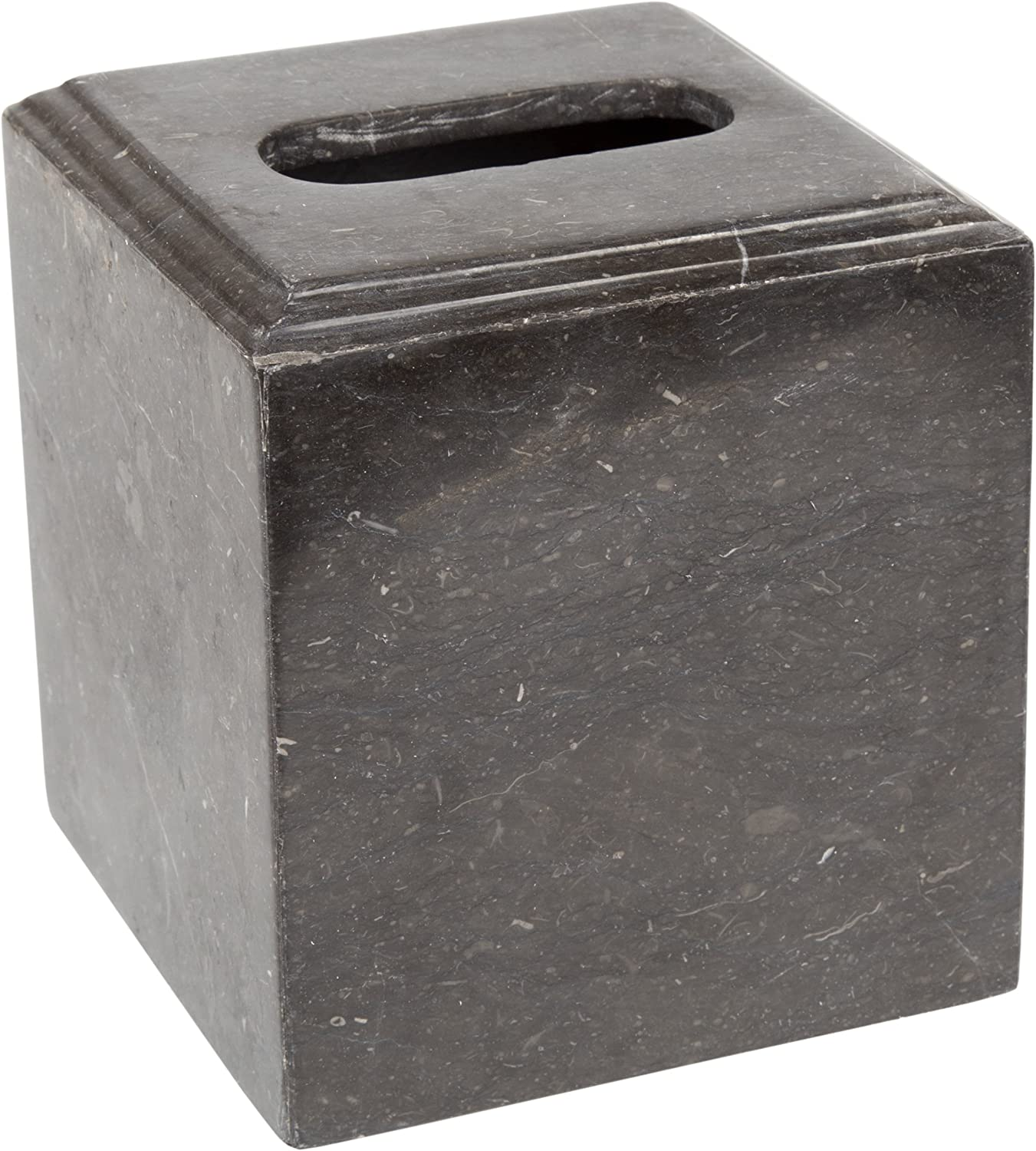 Creative Home Tissue Box Holder Charcoal Marble Bath Accessories