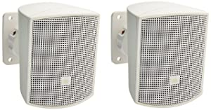 JBL Professional JBL Control 52 Surface-Mount Speaker for Subwoofer-Satellite Loudspeaker System White-Sold as Pair, WH