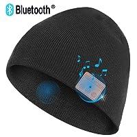 Upgraded V4.2 Bluetooth Beanie Hat Headphones Wireless Headset Unisex Winter Music Hat Knit Cap Stereo Speakers & Mic Unique Christmas Tech Gifts Women Men Teen Boy Girls FULLLIGHT TECH BT-01