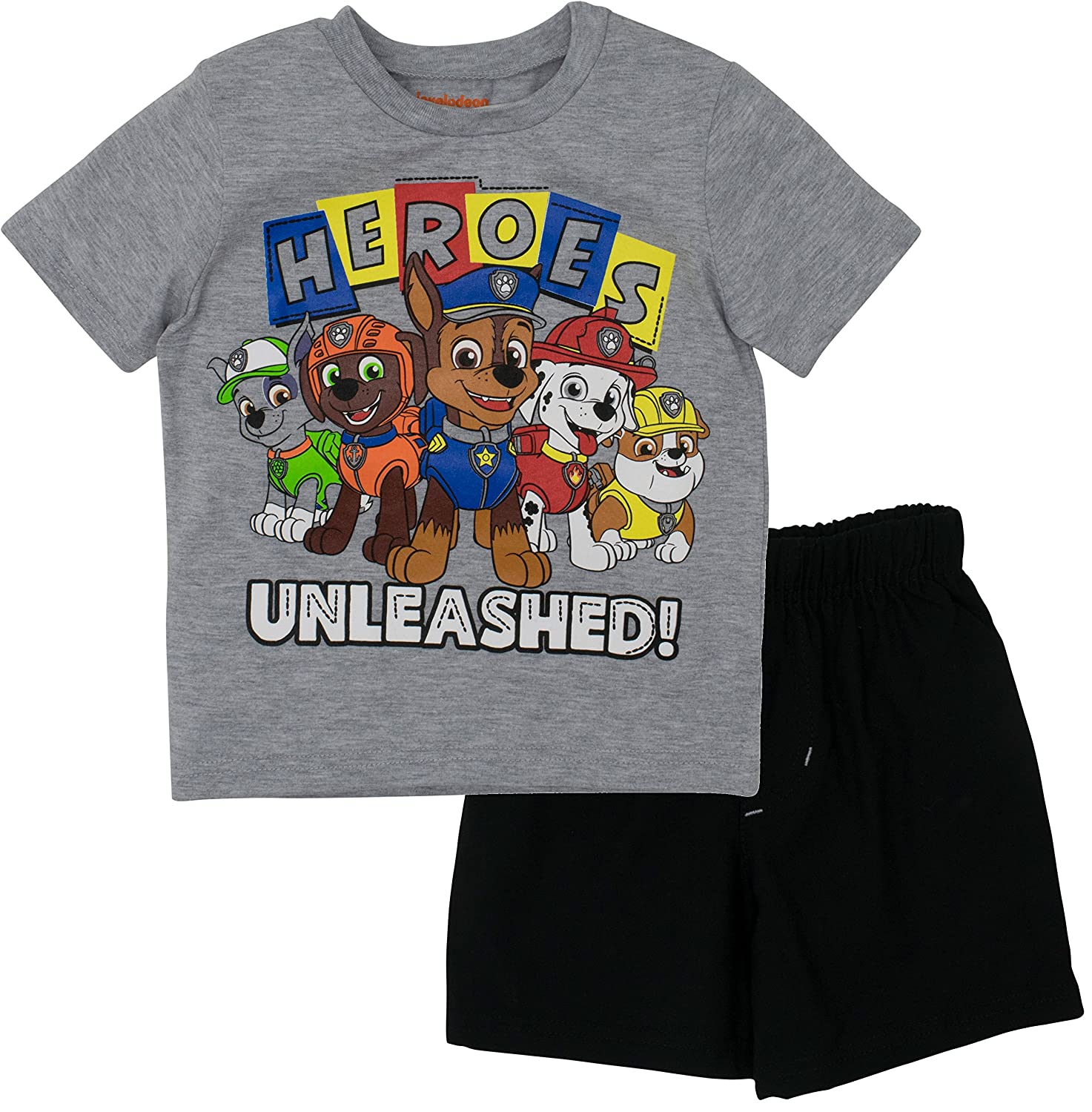 Nickelodeon Paw Patrol Toddler Boys' T-Shirt & Mesh Shorts Clothing Set