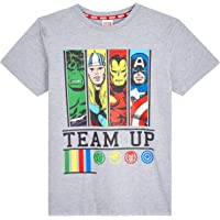 Marvel Camiseta Niño, Camisetas Niño Manga Corta con Superheroes Iron Man Capitan America Hulk y Thor, Ropa Niño de Los…