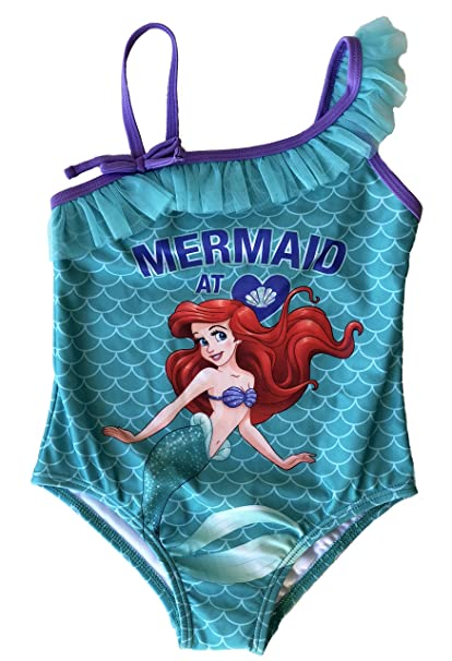608acec9627ef Amazon.com: Girls Disney The Little Mermaid Ariel One Piece Swimsuit ...