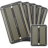 ElectroCookie Prototype PCB Solderable Breadboard for Arduino and DIY Electronics Projects, Gold-Plated (5 Pack + 1 Mini…