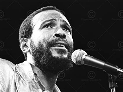 Music marvin gaye legend soul singer portrait black white 18x24 poster art print lv10396