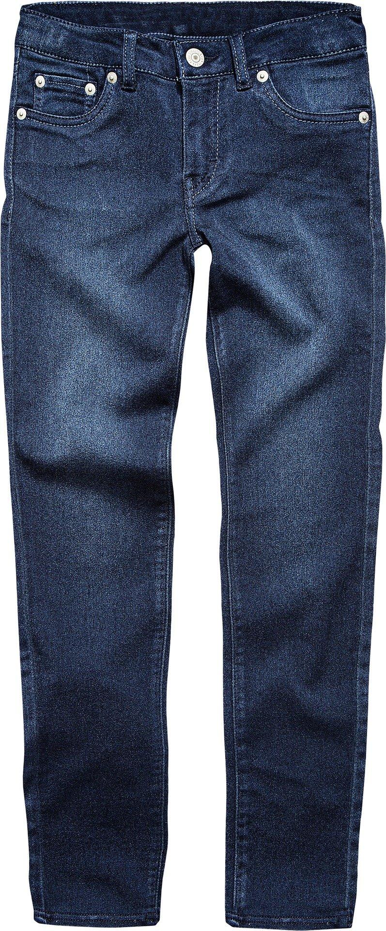 Levi's Big Girls' 710 Super Skinny Fit Soft Jeans, Dark Indigo, 14