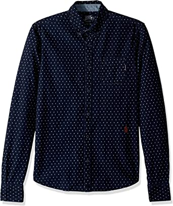 Scotch & Soda Hombre Camisa AMS Blauw Allover Slim, Azul: Amazon.es: Ropa y accesorios