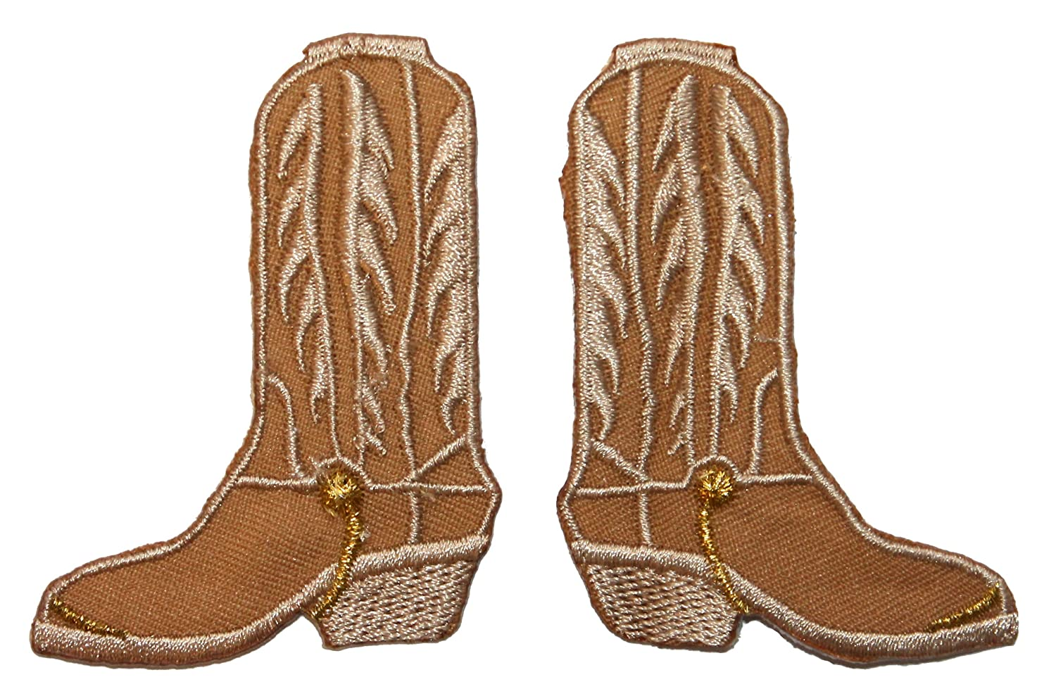 Amazon id ab set of tan cowboy boot patch western