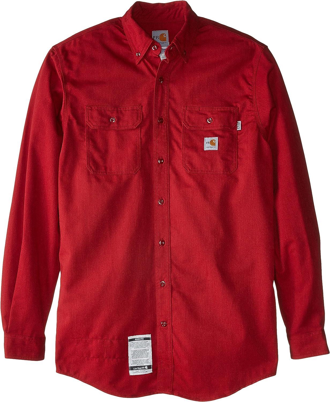 Carhartt hombres camisa de sarga de manga larga bolsillo a frs160 incendio