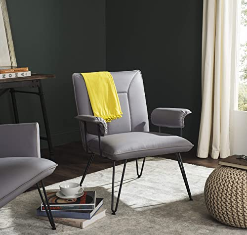 Deal of the week: Safavieh Home Collection Johannes Mid-Century Modern Grey Arm Chair
