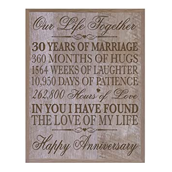 30th Anniversary Gift Ideas For Him Her Couple Parents Custom Made 30 Year Gifts