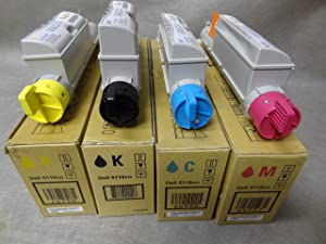 Dell 5110CN High Yield Lot of 4 Yellow, Cyan, Black and Magenta