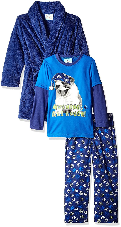 9ddef34ab2 Amazon.com  Bunz Kidz Boys  Mornings are Rough Robe and 2pc Pajama Set   Clothing
