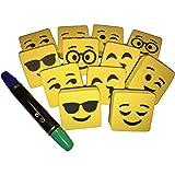 Amazon Com Kiboo 12 Pack Smile Face 3 75 Quot Magnetic White