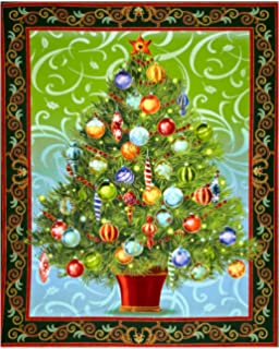 holiday treasures metallic christmas tree 36in panel forest fabric - When Is The Best Time To Buy Christmas Decorations
