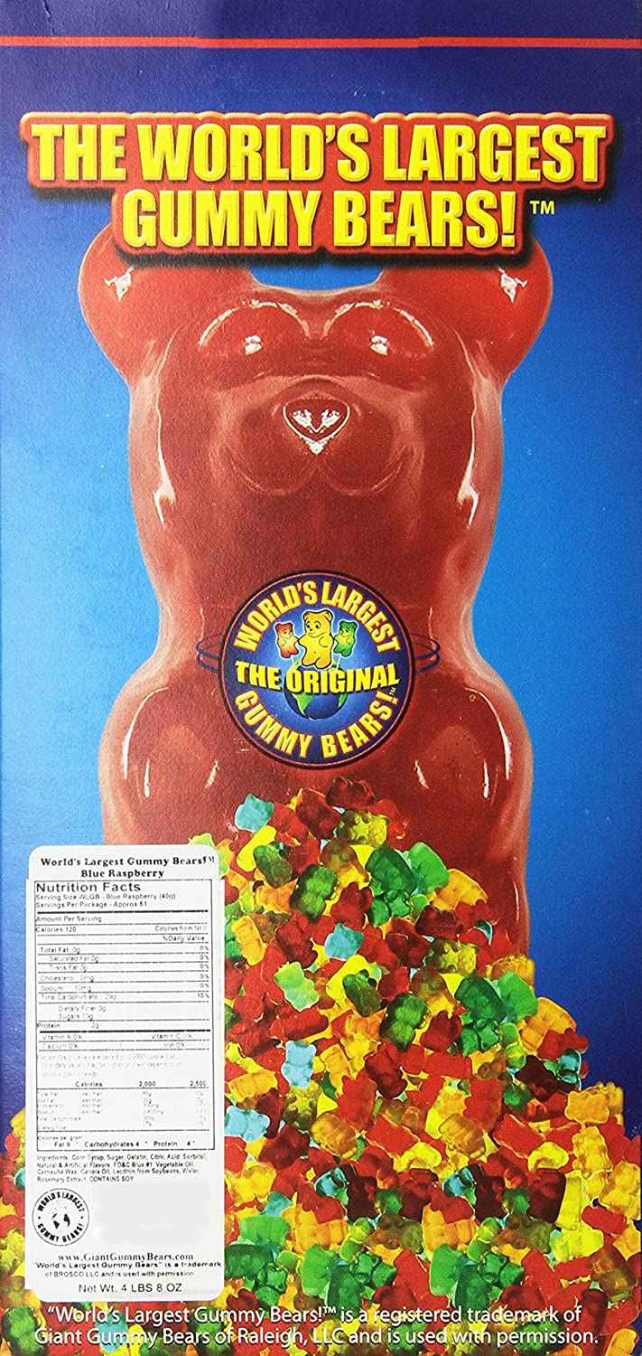 Haribo gummy bears are just one of many products that thomas - Amazon Com World S Largest Gummy Bear Approx 5 Pounds Giant Gummy Bear Blue Raspberry Gummy Candy Grocery Gourmet Food
