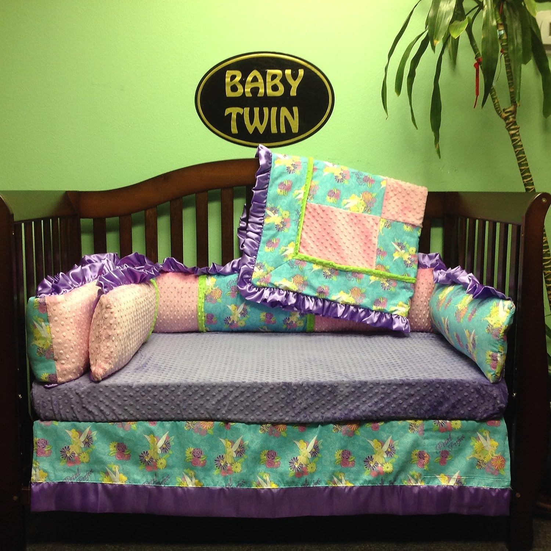 Crib Set 4Pc/ Nursery Bedding/Tinkerbell/Lavender