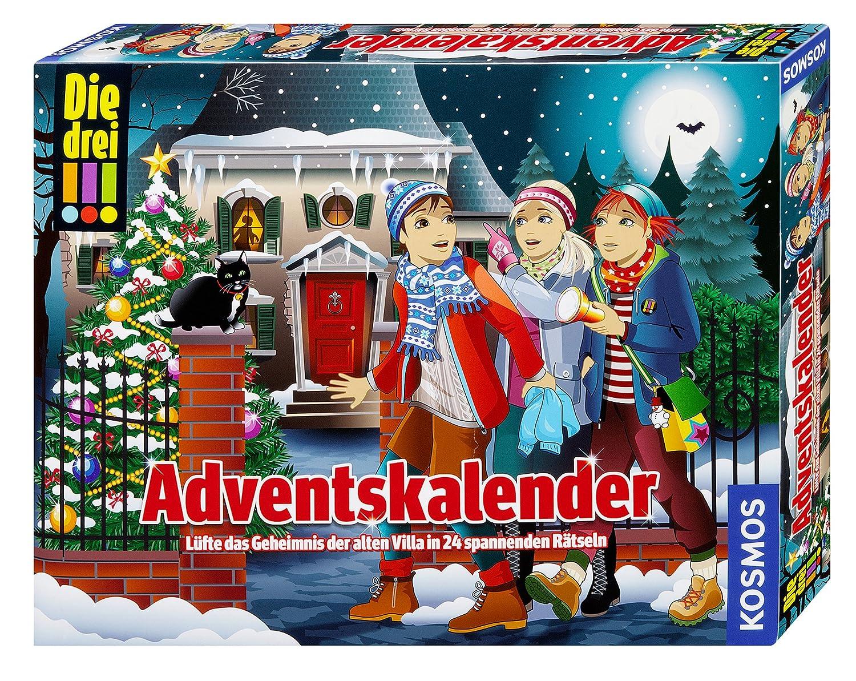 KOSMOS 630973–Los Tres. Calendario de Adviento Lernen Spiele für Drinnen