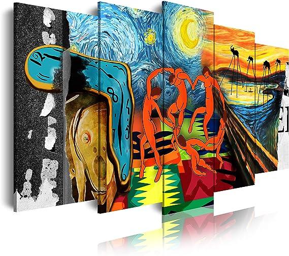 Estilo Buda Zen Paisaje Relajaci/ón Naturaleza XXL 180x85x3cm Lienzo Decorativo para Tu Sal/ón o Dormitorio 5 Piezas Azules DekoArte Cuadros Modernos Impresi/ón de Imagen Art/ística Digitalizada