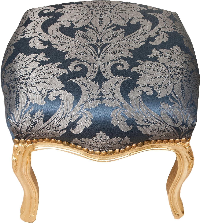 Biscottini Manele Tabouret Repose-Pieds Style fran/çais Louis XVI en Bois Massif de h/être L42/x PR42/x H42/cm
