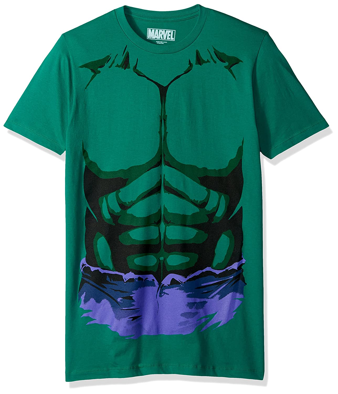 Marvel Mens Hulk Purple Shorts Short Sleeve T-Shirt
