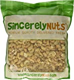 Sincerely Nuts Whole Cashews Roasted & Unsalted - Three Lb. Bag - Enticing Taste - Delightfully Crunchy - Healthy Nutrients- Kosher