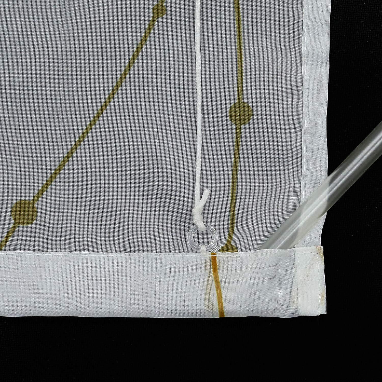 ESLIR Raffrollo ohne Bohren Raffgardine Transparent mit /Ösen Gardinen mit U-Haken Modern /Ösenrollo Vorh/änge mit Wellen Muster Grau BxH 60x140cm 1 St/ück
