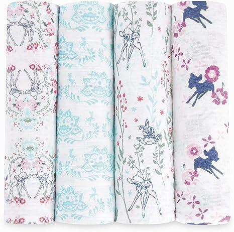 Aden + Anais Bambi - Pack 4 muselinas, edición limitada: Amazon.es: Bebé