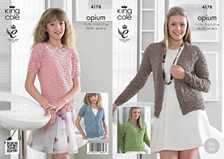 e5b0bcc45 King Cole 4178 Knitting Pattern Cardigans and Sweaters to knit in King Cole  Opium  Amazon.co.uk  Kitchen   Home