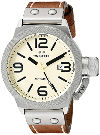 75de5585ec42 Amazon.com  TW Steel Men s CS15 Analog Display Automatic Brown Watch bu   Watches