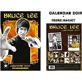 Bruce LEE Calendar 2019 + Bruce LEE Fridge Magnet