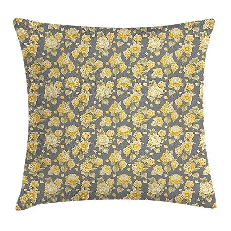 Amazon.com: Flower Throw Pillow Cushion Cover, Hydrangea ...