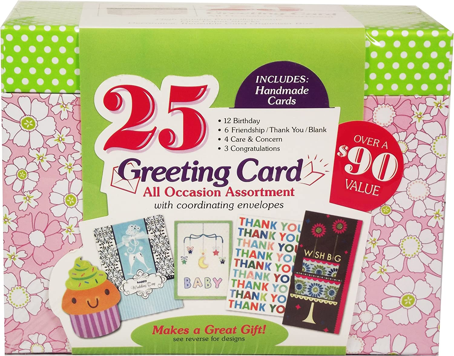 Blue Box Paper Magic All Occasion Happy Greeting Card Handmade And Embellished