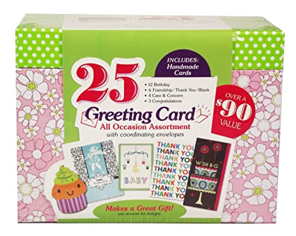Amazon paper magic all occasion handmade greeting card paper magic all occasion handmade greeting card assortment in keepsake organizer box 25 cards m4hsunfo