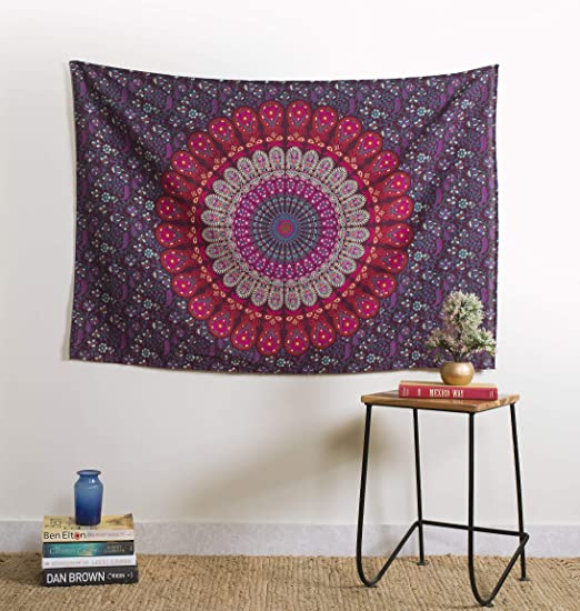 Table Cover Wall Hanging Wall Tapestry Poster Indian Decor Dorm Boho Yoga Throw